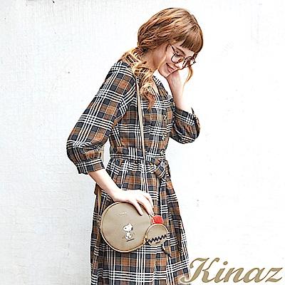 KINAZ x PEANUTS™ 雀躍腳步斜背包-糖霜歐蕾-好日子系列