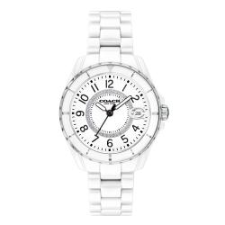COACH Preston系列陶瓷腕錶/白14503462