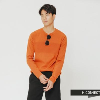 H:CONNECT 韓國品牌 男裝-質感造型針織上衣-橘(快)