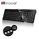 irocks K01巧克力超薄鏡面有線鍵盤-黑色 product thumbnail 1