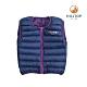 【hilltop山頂鳥】童款超潑水保暖蓄熱羽絨雙面穿內背心F25CF6紫藍 product thumbnail 1