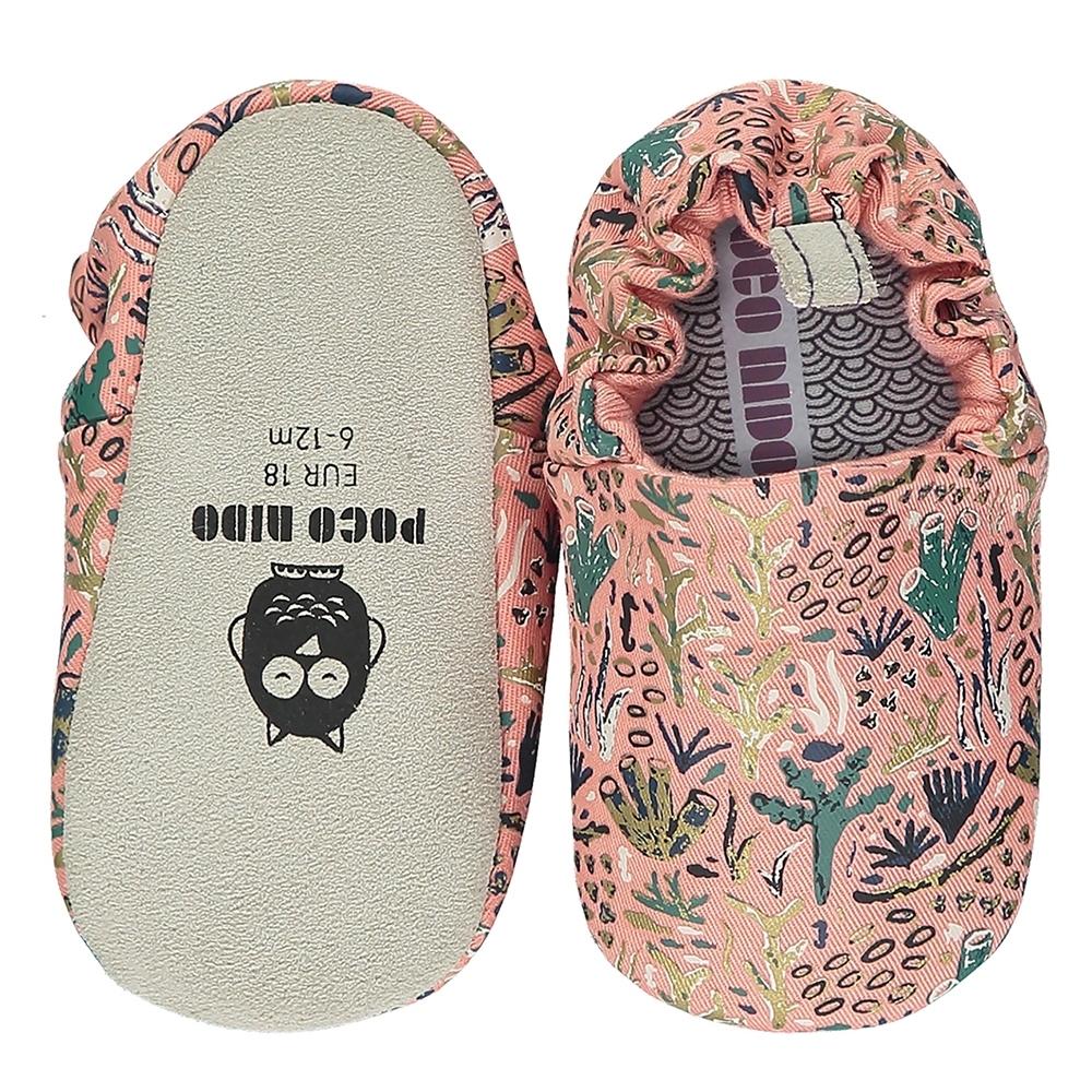 英國 POCO NIDO 手工嬰兒鞋 (浪漫珊瑚礁 - 優雅粉)【2021新款】