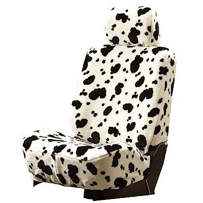 【葵花】量身訂做-汽車椅套-絨布-乳牛-露營車款-雙前座-第一排2人座