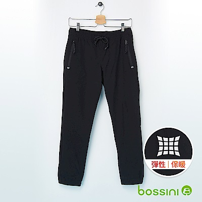 bossini男裝-彈性輕便保暖褲(內刷毛)03黑