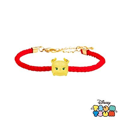Disney迪士尼TSUM TSUM系列金飾 黃金編織手鍊-黑魔女款