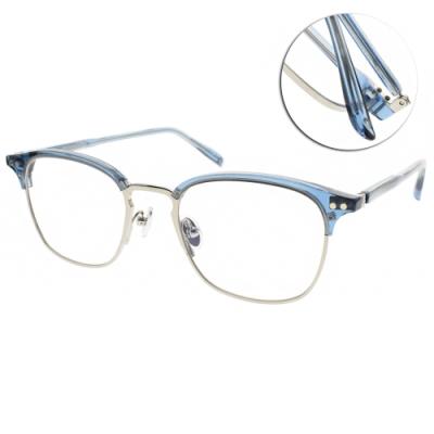 NINE ACCORD光學眼鏡  簡約眉框造型款/槍-透藍 #LENTOP FELLA C3