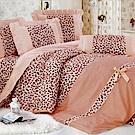 世紀之戀-柔絲絨加大四件式兩用被床包組