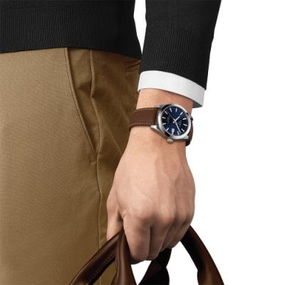 TISSOT 天梭 GENTLEMAN 經典紳士機械錶(T1274071604100)40mm
