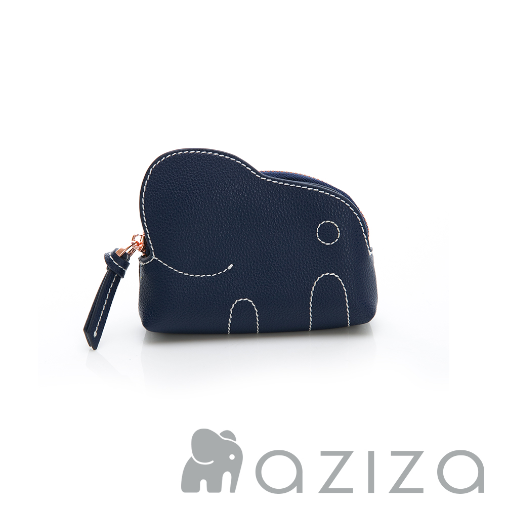 aziza 小象零錢包-藍