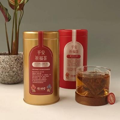 【鎮瀾宮大甲媽祖】平安祈福茶2罐(台茶21號紅茶包X1+東方美人茶包X1)
