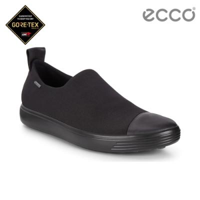 ECCO SOFT 7 W 輕盈套入簡約休閒鞋 女-黑