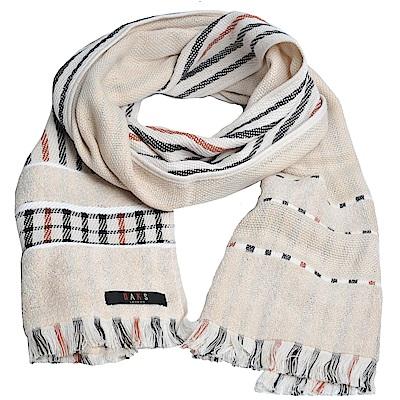DAKS 經典格紋棉質長圍巾(卡其格)