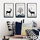 TROMSO 北歐生活版畫有框畫-麋鹿原野WA57(三幅一組) product thumbnail 1