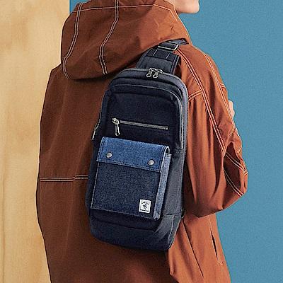 PORTER - 丹寧態度PATCH WORK造型單肩包 - 藍