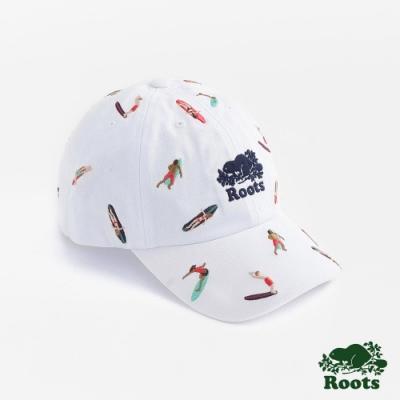 配件Roots-衝浪AOP棒球帽-白