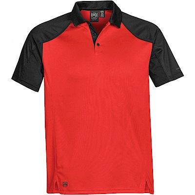 加拿大STORMTECH超吸排H2X-DRY拼接POLO衫-男-紅