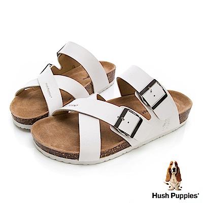 Hush Puppies Cross 交叉繫帶涼拖鞋-白色