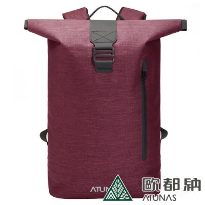 【ATUNAS 歐都納】潮流戶外防水多功能後背包15L(A1BPAA07N酒紅)