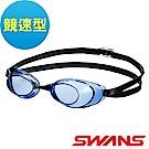 【SWANS 日本】光學競速型泳鏡 (防霧/抗UV/矽膠 SR-10N 藍 )