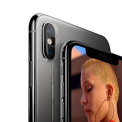 QinD Apple iPhone Xs Max 鏡頭玻璃貼(兩片裝)