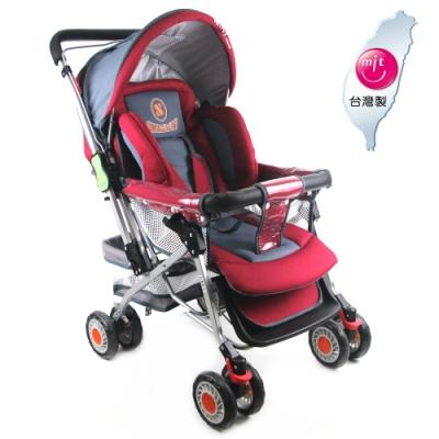 S-Baby 五點式安全帶雙向加寬推車-暗玫紅