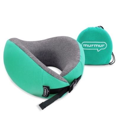 murmur-牛角頸枕-綠 NPN003(附收納袋)