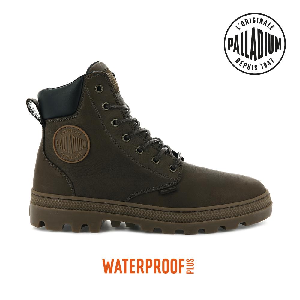 PALLADIUM PALLABOSSE SC WP+防水皮革靴-男-咖啡