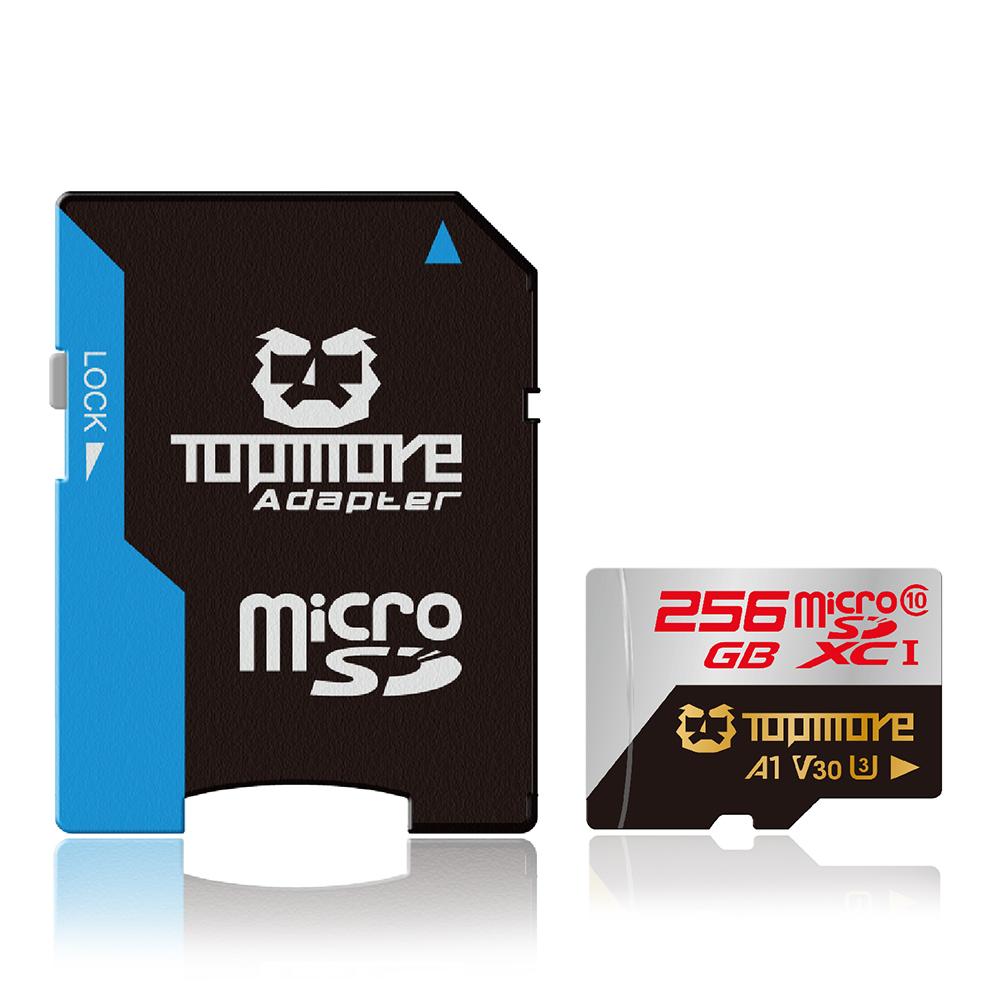 TOPMORE 256G MicroSDXC UHS-1 U3  A1 V30記憶卡
