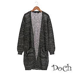 【Doch】微秋舒適雪花針織罩衫(共三色)