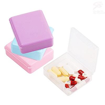 金德恩 便攜式高密合度單格 隨行小方盒/保健藥盒/收納盒2入組