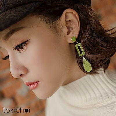 東京著衣 歐美時尚簡約長方形幾何耳針式耳環(共一色)
