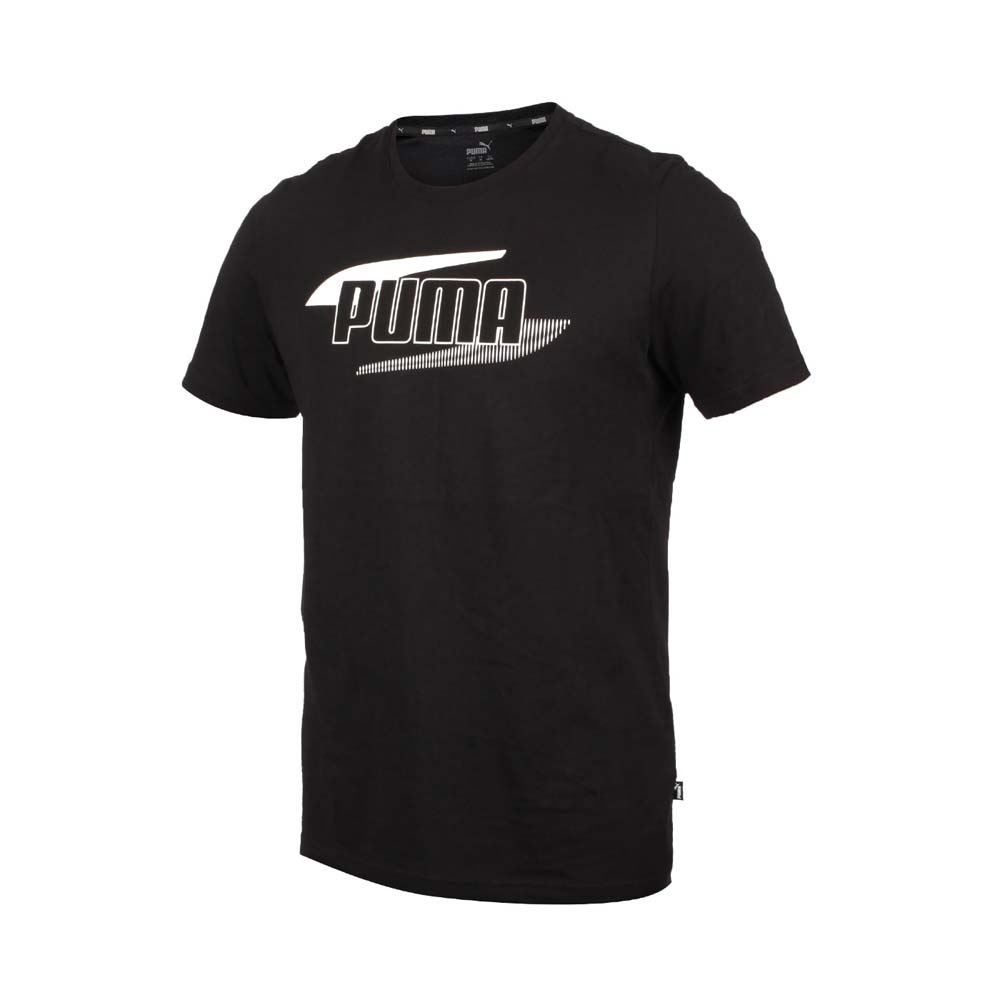 PUMA 男短袖T恤-歐規 純棉 上衣 休閒 慢跑 58348851 黑米白