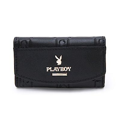 PLAYBOY- 鎖包  魅力方格兔系列 -黑色