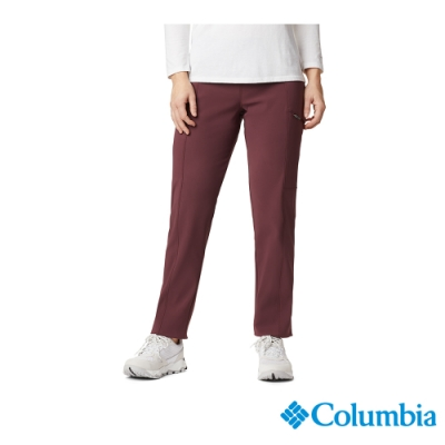 Columbia 哥倫比亞女款- Omni-SHIELD防曬50防潑內刷毛長褲-暗紅 UAK11220WE