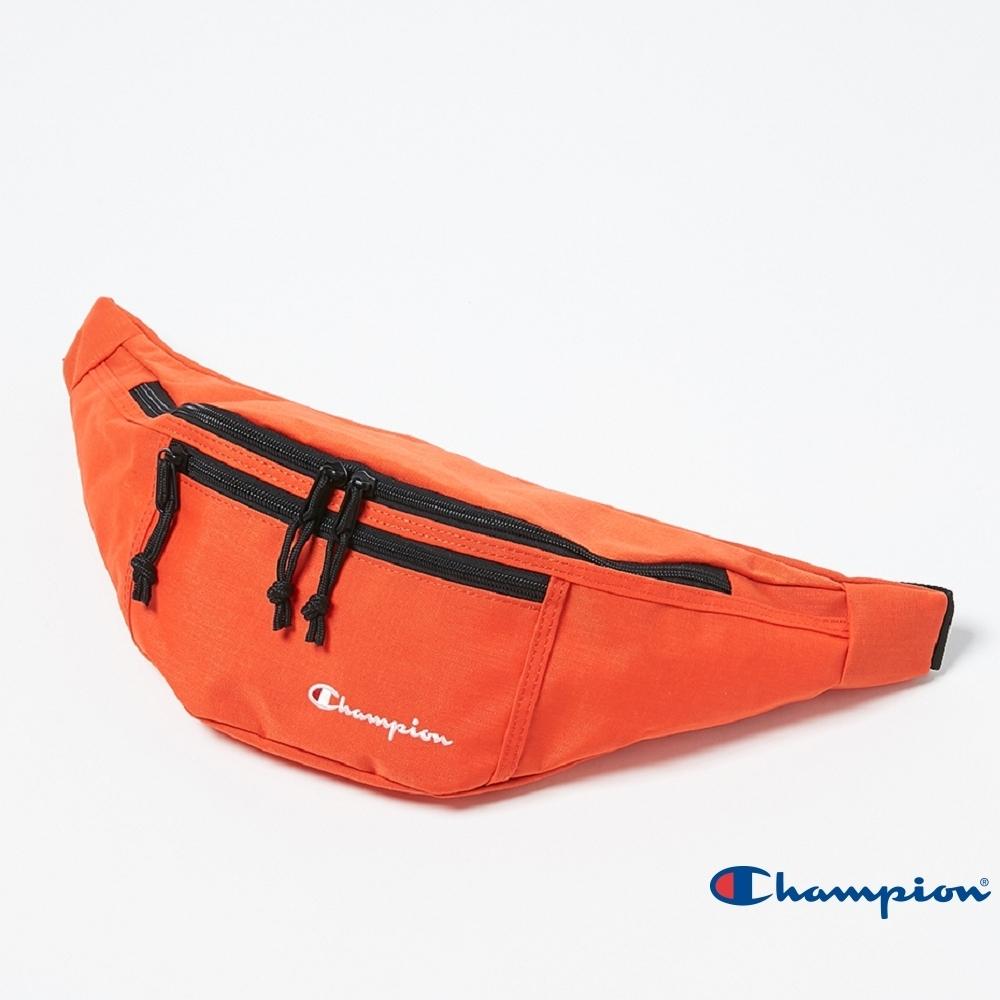 Champion 草寫Logo雙拉鍊腰包 橘色