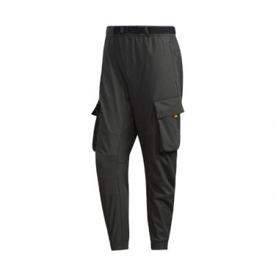 adidas 長褲 Cargo Pants 休閒 男款 工裝 大口袋 流行 穿搭推薦 綠 黃 GM4436