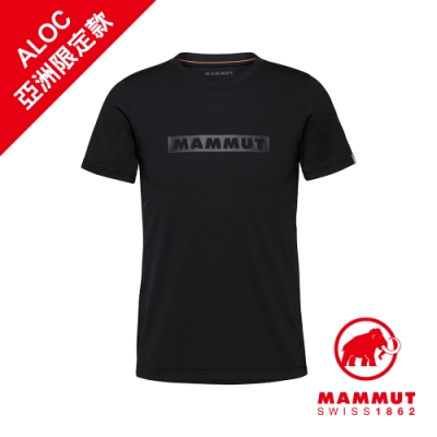 【Mammut 長毛象】QD Logo Print T-Shirt AF Men 輕便短T 男款 黑PRT2 #1017-02011