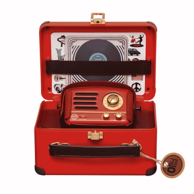 MUZEN OTR Metal 經典復刻藍牙音響收音機-波爾多紅