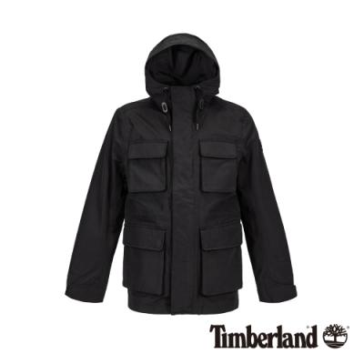Timberland 男款黑色智能穿搭連帽防水外套 A1WS2