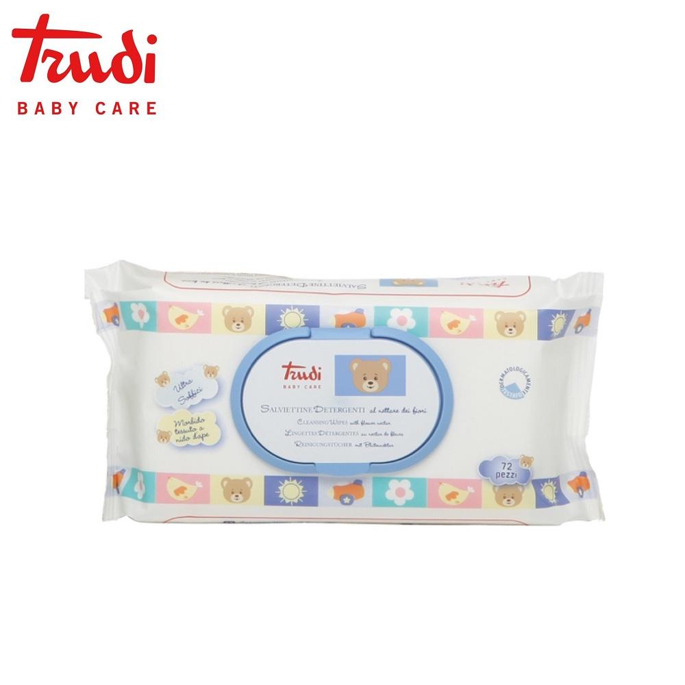 Trudi Baby Care 義大利 寶貝純蜜濕紙巾72抽x5入