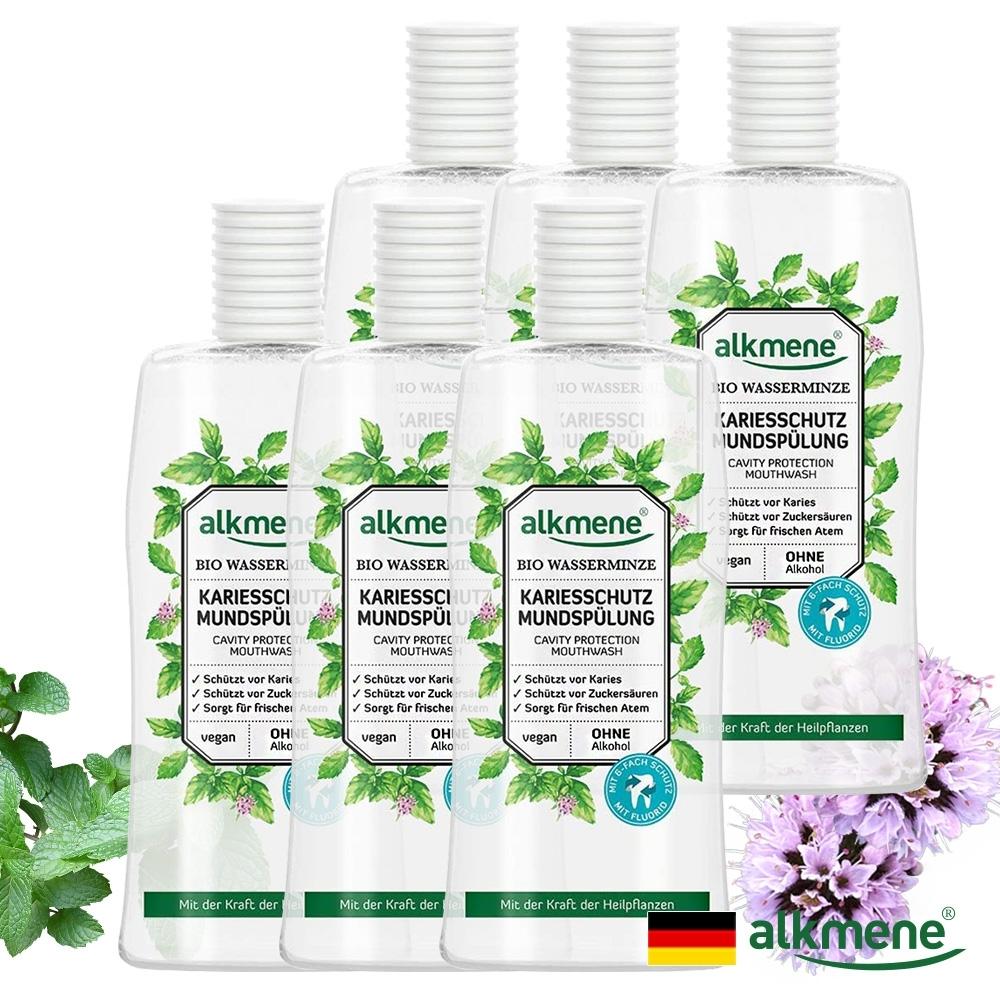 德國alkmene天然薄荷口腔保護漱口水500mlx六入