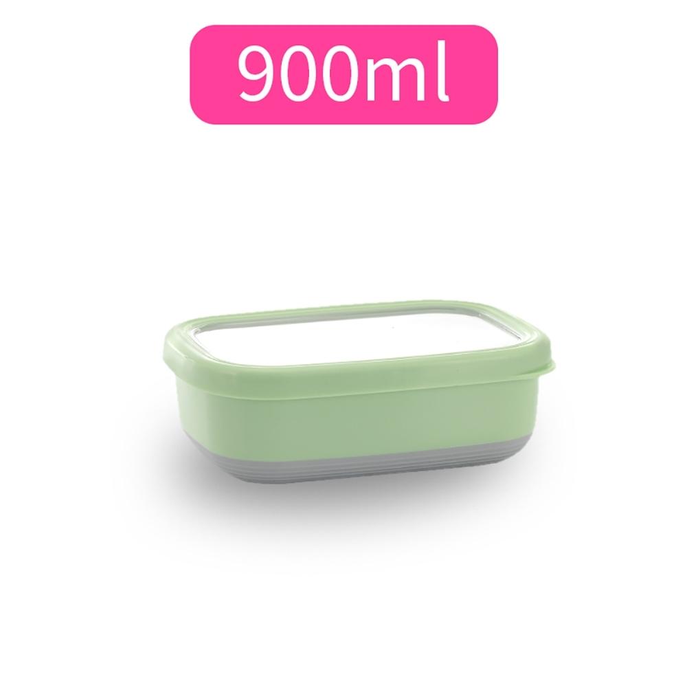 【佳工坊】長方型附蓋隔熱保鮮盒-M號(900ml)