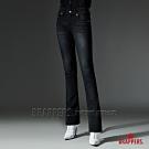 BRAPPERS 女款 新美腳 ROYAL系列-中腰彈性鑲鑽小喇叭褲-黑