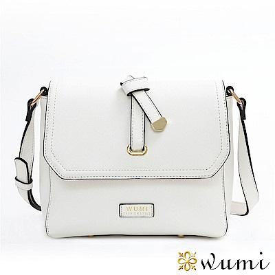WuMi 無米 蜜莉Mini蝴蝶結斜背包 冰晶白(快)