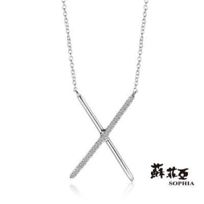蘇菲亞 SOPHIA - X造型14K鑽石套鍊