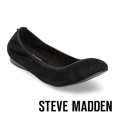 STEVE MADDEN-BAMBA時尚芭蕾平底鞋-絨黑