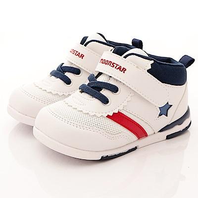 日本月星頂級童鞋 HI系列2E護踝款 NI52白藍(寶寶段)