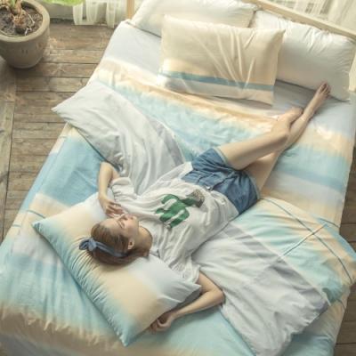 BUHO 舒涼TENCEL天絲雙人三件式床包枕套組(時光若刻)