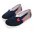 DISNEY 發燒話題 米奇後側條紋懶人鞋-藍