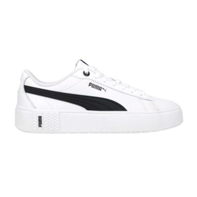 PUMA SMASH PLATFORM V2 L 女休閒運動鞋-厚底鞋 板鞋 皮革 37303502 白黑
